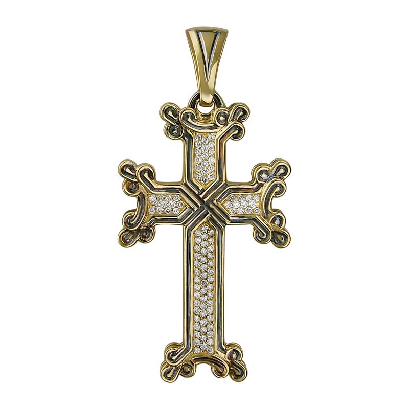 Подвеска в виде крестика