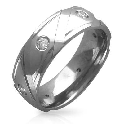 Обручальное кольцо с бриллиантами  (шесть штук)