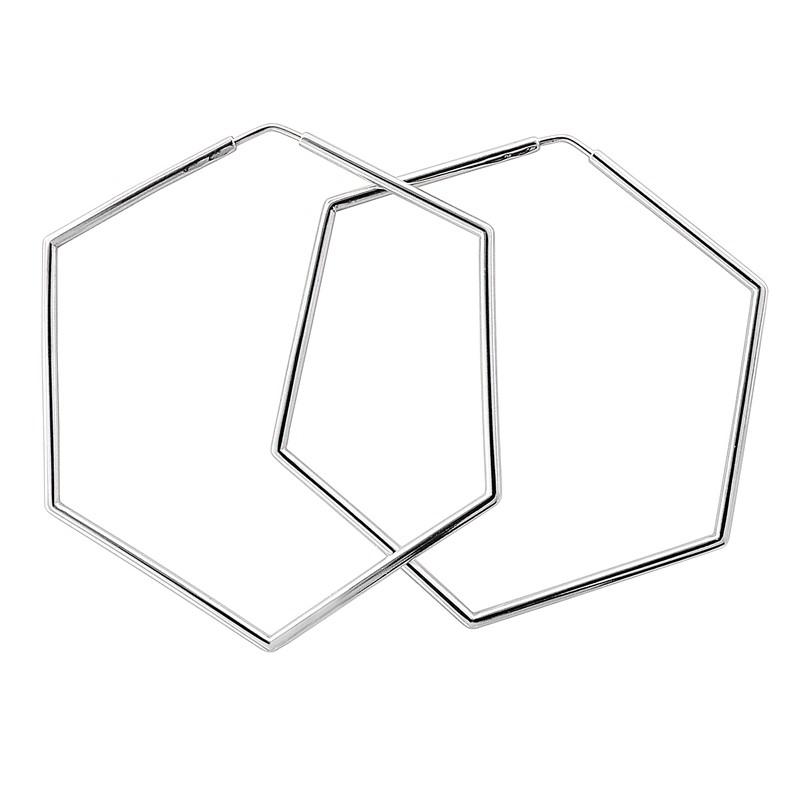 Серьги шестигранники